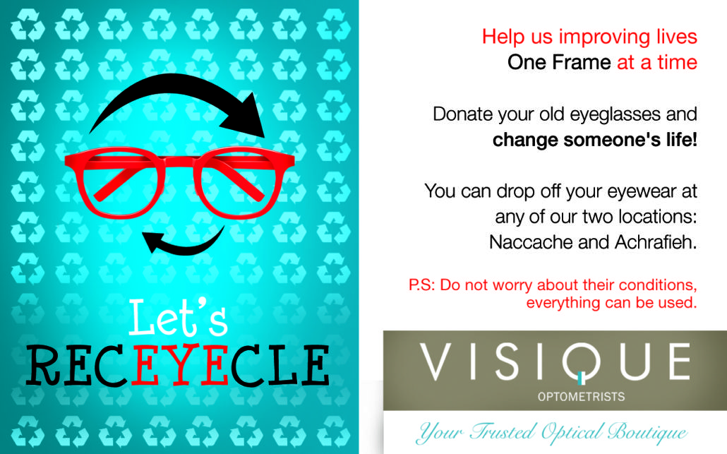 Visique Eyeglasses Recycle